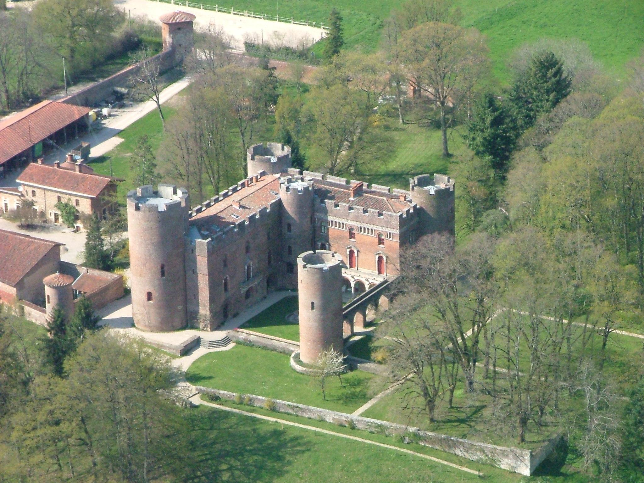 Vue aérienne du Château de Richemond