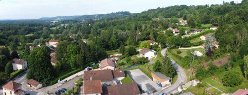 Vue panoramique de Villette-sur-Ain